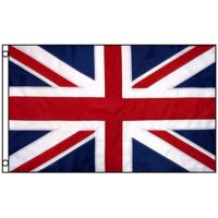 3x5 United Kingdom Flag UK Nylon Embroidered Sewn Stripes British