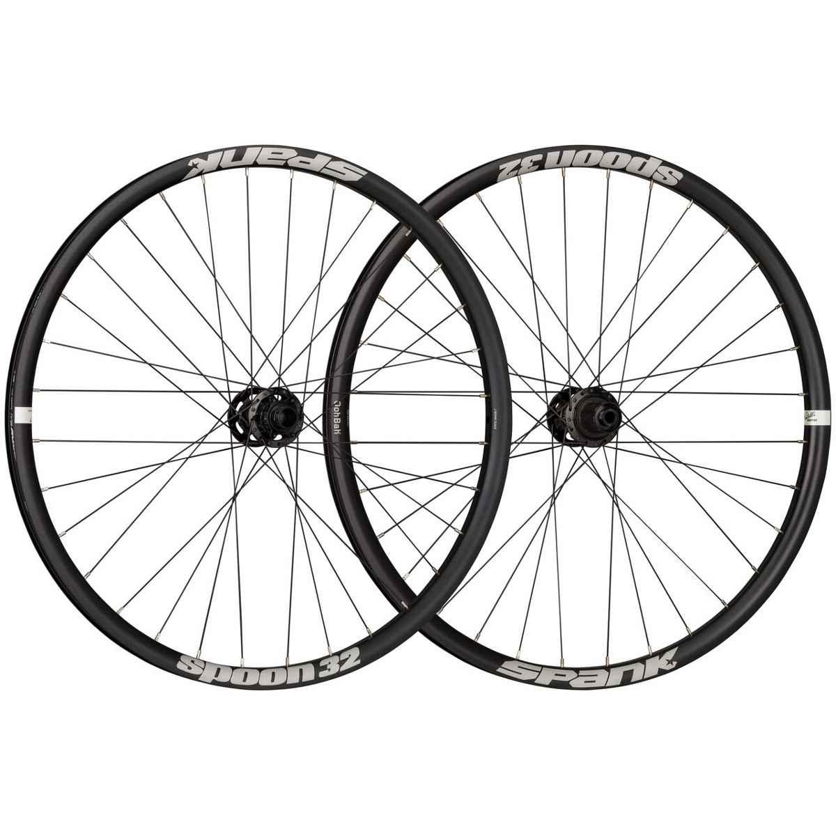 Spank Spoon 32 26 inch Wheelset, 12X135+12X142, Hg, Blk - C08N3211120ASPK