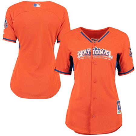 Majestic Women's 2013 MLB All-Star Game Performance Jersey - Orange Game Official Mlb Baseball Jersey