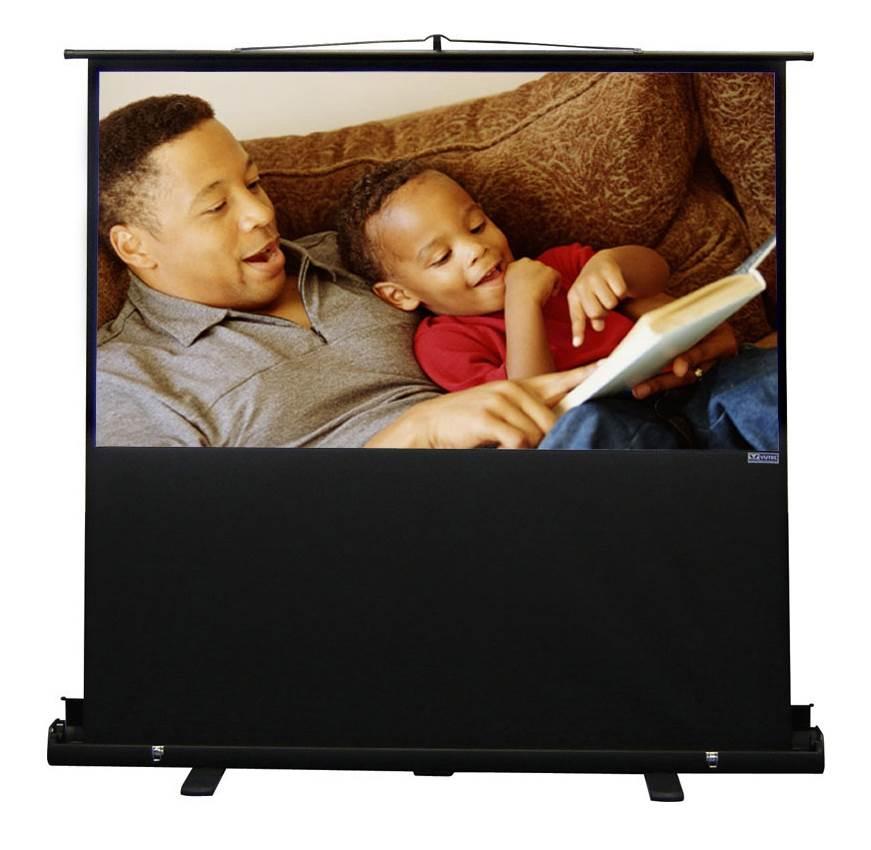 VUTEC 48 in. x 64 in. Porta-Vu Riser Projection Screen in...