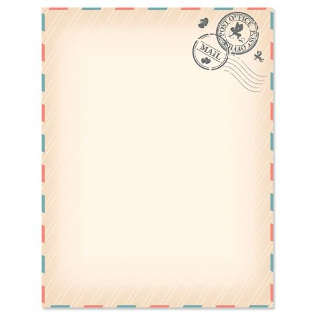 Love Letter Letter Papers - Set of 25 Valentine'stationery papers are 8 1/2