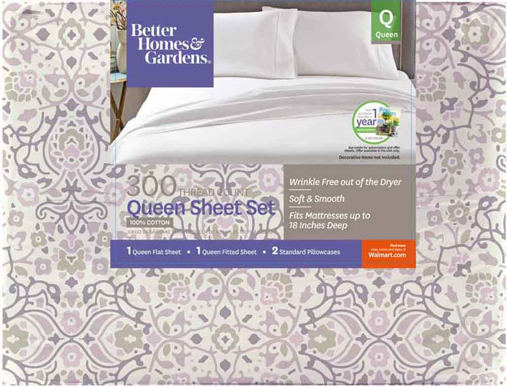 Better Homes And Gardens 300 Thread Count Sheet Collection, Twin    Walmart.com