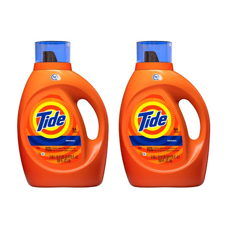 (2 pack) Tide Original Scent HE Turbo Clean Liquid Laundry Detergent, 64 loads, 2.95 - Roll Tide Shop