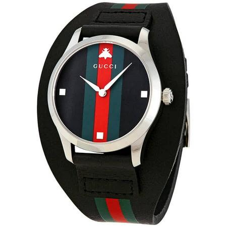 Gucci G-Timeless Leather Cuff Watch YA1264092 Look Fashion Cuff Watch
