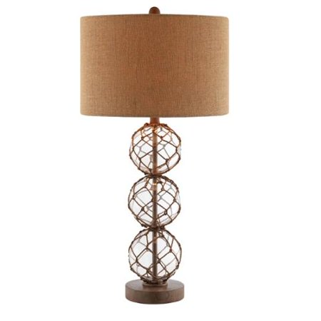 stein world breeze nautical rope base and burlap table. Black Bedroom Furniture Sets. Home Design Ideas