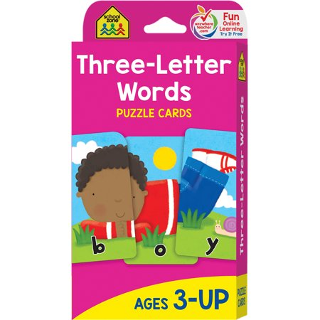 Puzzle Card: Three Letter Words: Puzzle Card (5 Letter Word For Best)