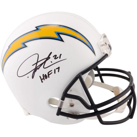 """LaDainian Tomlinson San Diego Chargers Autographed Riddell Replica Helmet with """"HOF 17"""" Inscription - Fanatics Authentic Certified"""
