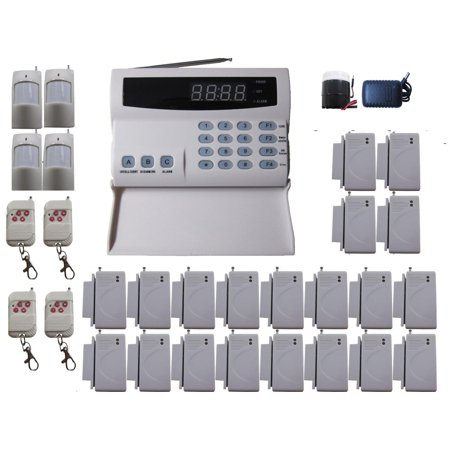 iMeshbean PSTN Wireless Voice Message Home Security Alarm Burglar System Auto Dialer with LCD Display DIY Kit Premium 108 Zones