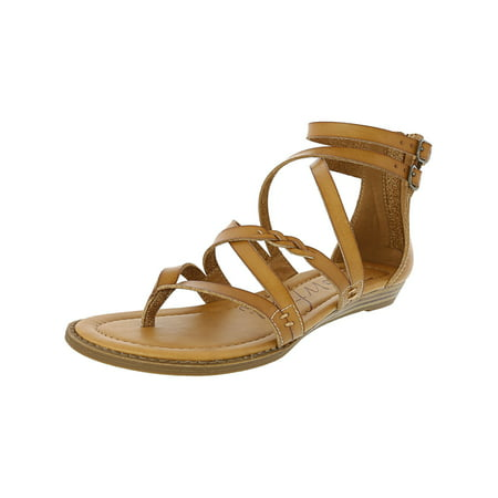 Toms Desert Wedges (Blowfish Women's Bungalow - B Dyecut Faux Leather Desert Sand High-Top Wedged Sandal)