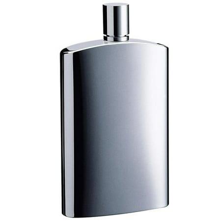 Metallic Pocket - Visol VF2071 David Brushed Metallic Small Stainless Steel 4 oz. Hip Flask