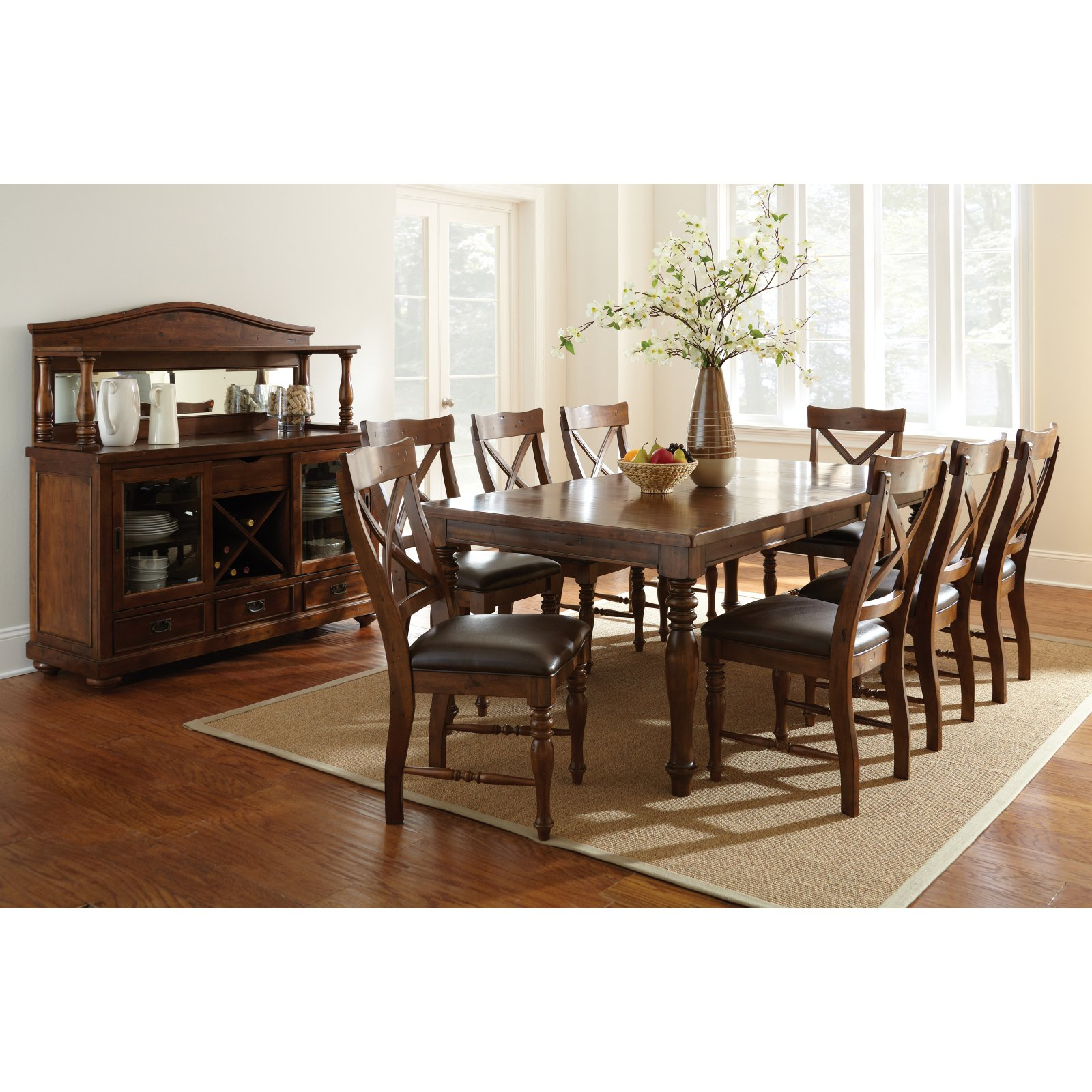 Steve Silver Wyndham Dining Table - Tobacco
