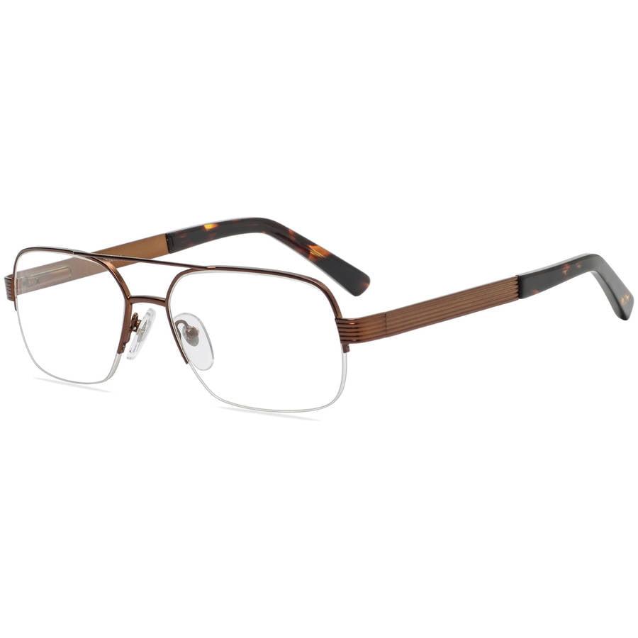 contour mens prescription glasses, fm9191 brown walmart.com