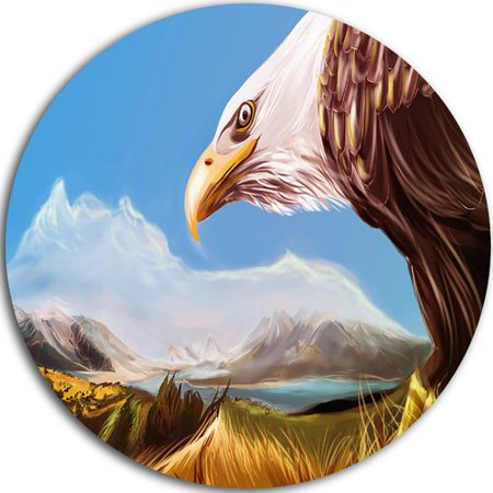 Design Art 'Eagle Flying in Sky' Graphic Art Print on Metal ()