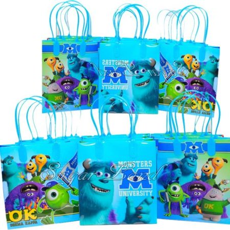 12 Monster University Party Favor Bags Birthday Candy Treat Favors Gifts Plastic Bolsas De Recuerdo - Monster Candy