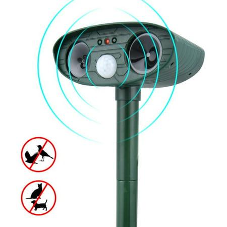 SUPERHOMUSE Ultrasonic Repellent Solar Powered and Waterproof Outdoor Unwanted Animal Repeller Deterrent Scarer Pest Control ()