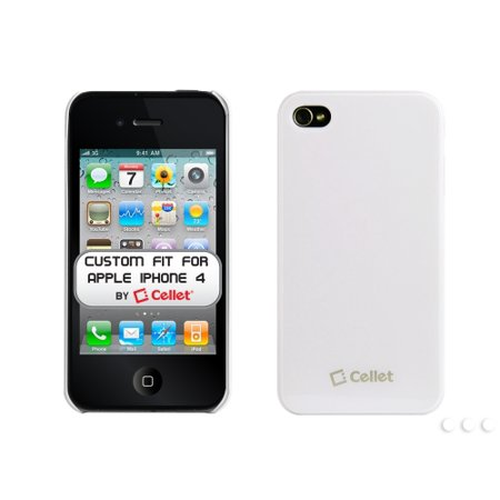 Cellet White Ultra Thin One Piece Proguard For Apple iPhone 4 (AT&T Phone