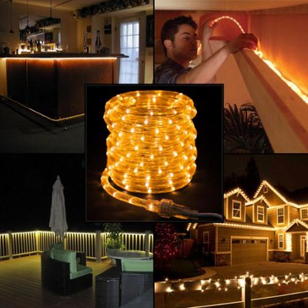 american lighting 27ft white led rope lights christmas holidays indoor