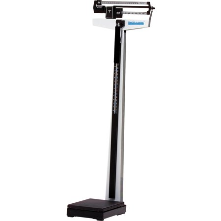 Health o Meter, HHM402KL, Dual-Reading Beam Scale, 1, Black,Silver