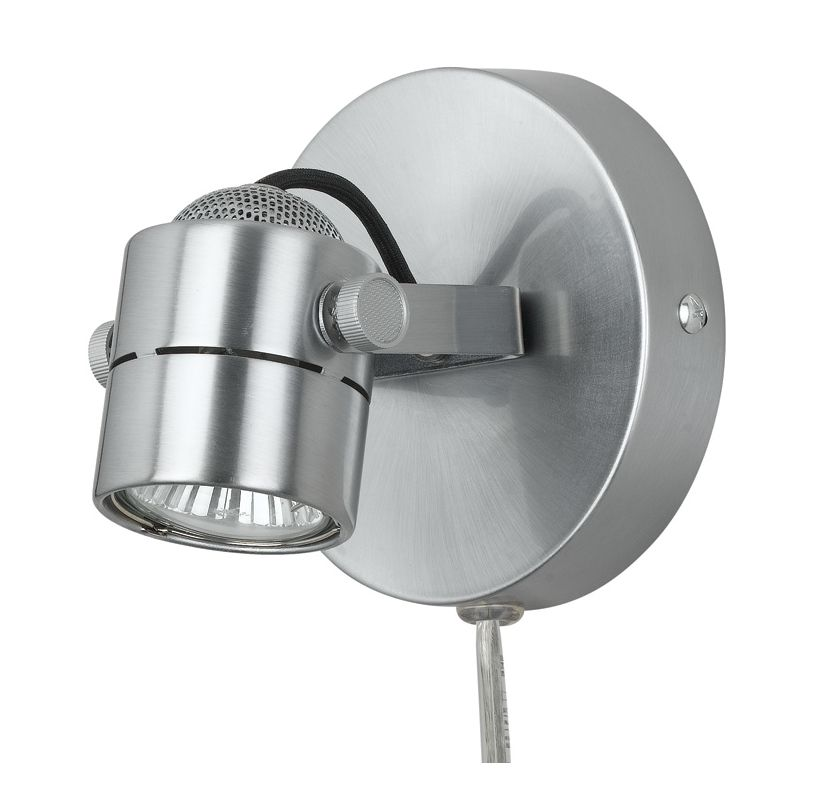 Cal Lighting BO-997 One Light Wall / Ceiling Mount Track Head with 5.5ft. Cord a