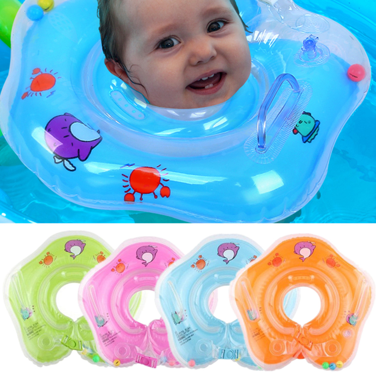 Inflatable Baby Infant Kid Swim Floating Float Neck Ring Swimming ...