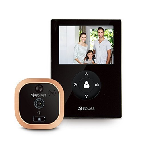 VEIU MINI SMART VIDEO DOORBELL BLACK W/ LCD & NO MONTHLY FEES