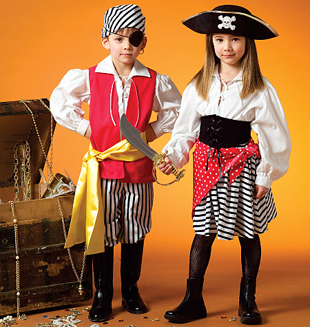 McCall's Misses', Men's, Children's, Boys' and Girls' Costumes, Kids (3, 4, 5, 6, 7, 8)