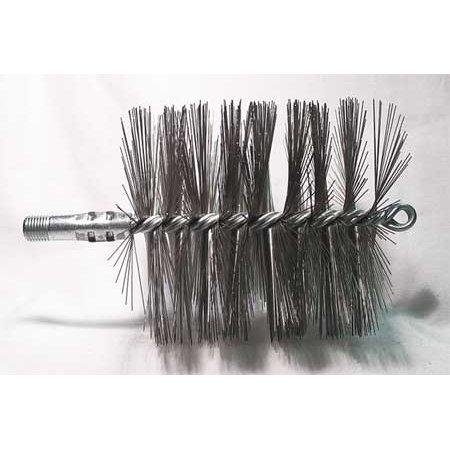 Dia Flue Brushes (Flue Brush,Dia 4-1/2,1/4 MNPT,7-1/2 In L TOUGH GUY)