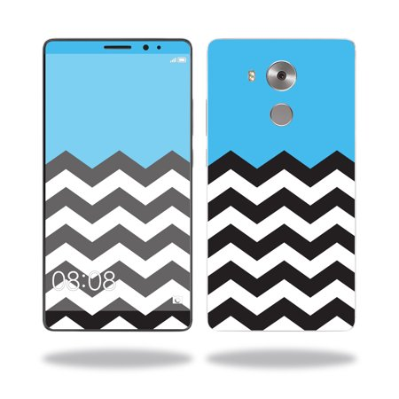 Skin Decal Wrap for Huawei Mate 8 cover sticker skins Baby Blue Chevron