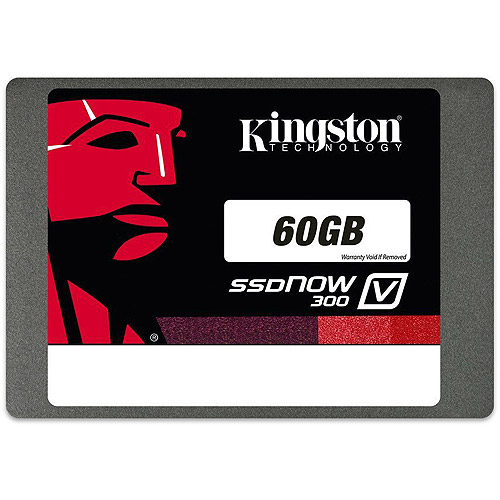 "Kingston Digital 60GB SSDNow V300 2.5"" with Adapter"