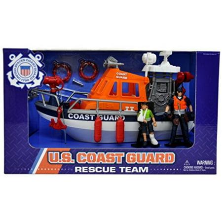 U.S. Coast Guard Figure Rescue Boat Playset (Coast Guard Rescue)