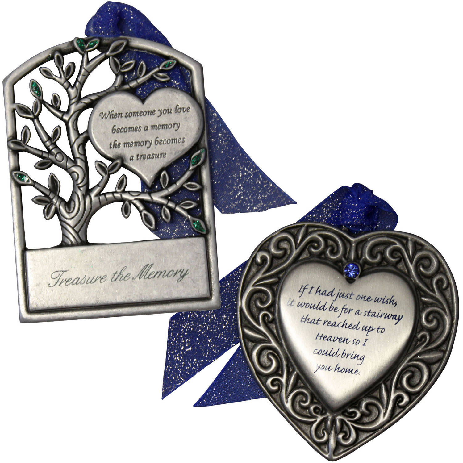 Gloria Duchin Memorial Christmas Ornament 2-Piece Set