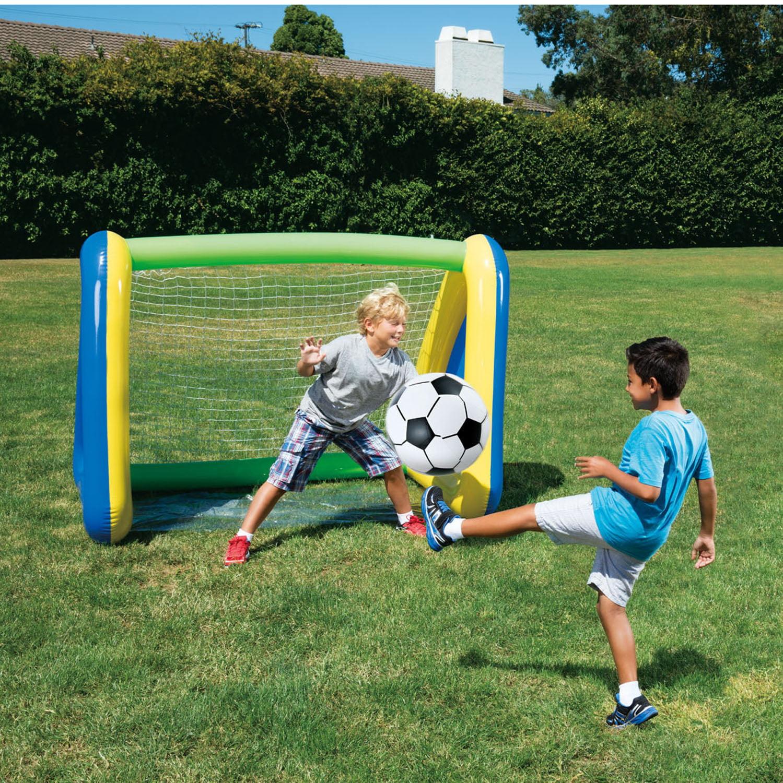 Big Play Sports Jumbo Inflatable Swimming Pool Goal and Ball Soccer Sports Set - image 4 de 6