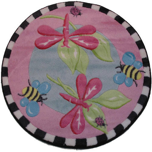 Fun Rugs Dragonfly Kids' Rug, Pink