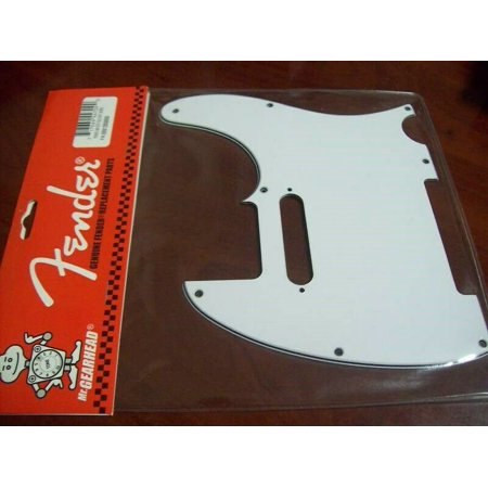 NEW Genuine Fender Tele Pickguard, 8 Holes - WHITE, 099-1355-000 Fender Tele Pickguards