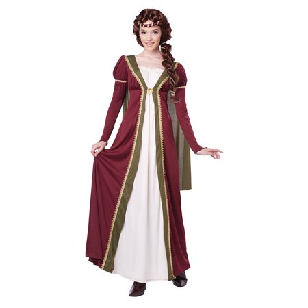 Womens Medieval Maiden Halloween Costume - Womens Halloween Costumes Walmart