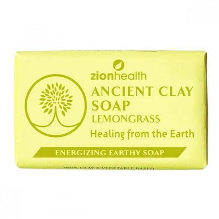 Ancient Clay Soap  Lemon Grass Zion Health 6 oz Bar Soap