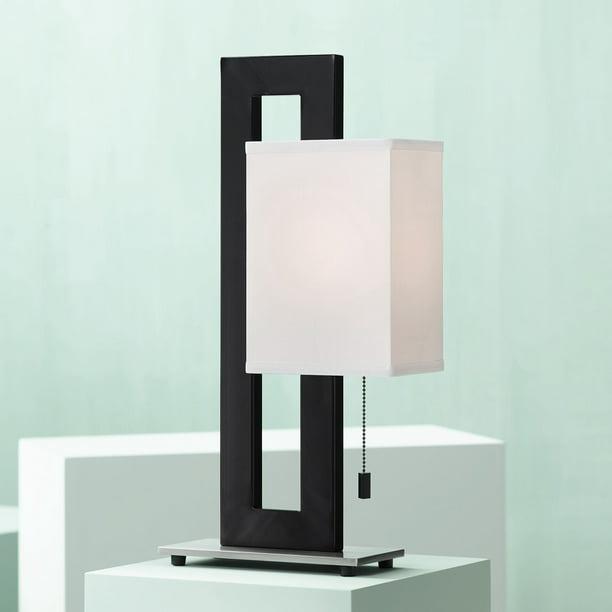 11 Lighting Modern Accent Table Lamp Black Metal Open Rectangular