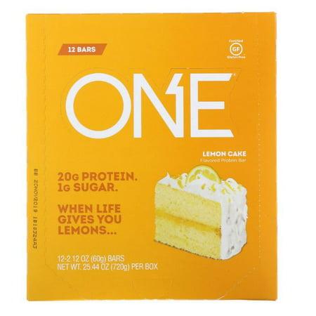Oh Yeah!, One Bar, Lemon Cake Flavor, 12 Bars, 2.12 oz (60 g) Each(pack of 3)