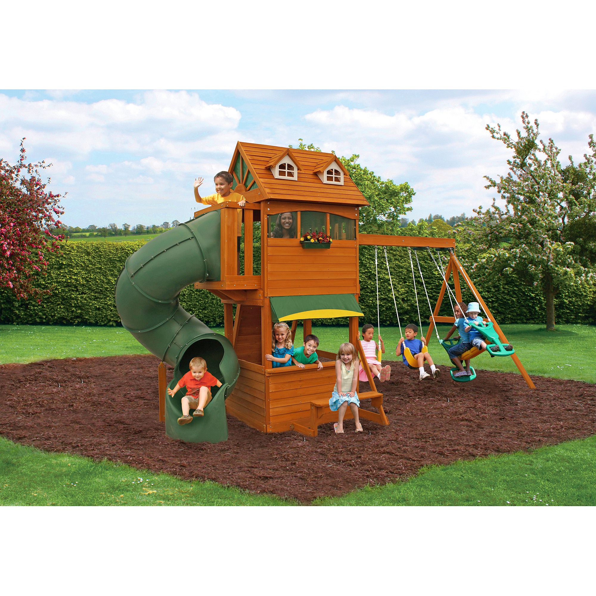 wooden swing sets under 500 diy swing set and playhouse plans