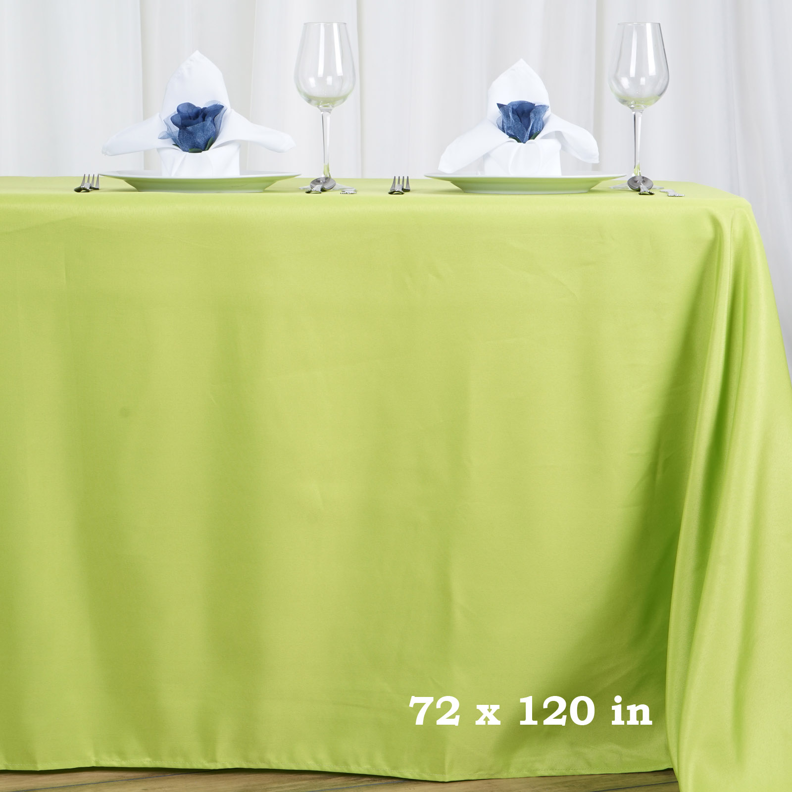 "BalsaCircle 72"" x 120"" Rectangular Polyester Tablecloth for Party Wedding Reception Catering Dining Home Table Linens"