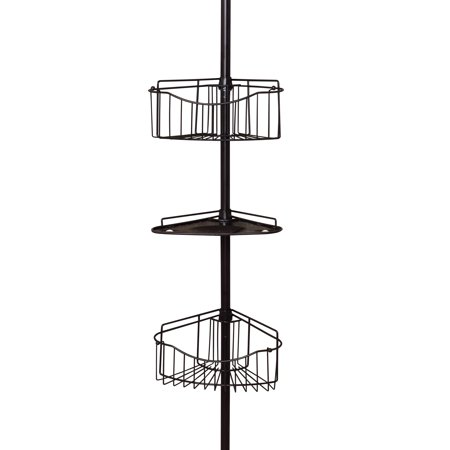Mainstays Tension Pole Shower Caddy, Oil-Rubbed