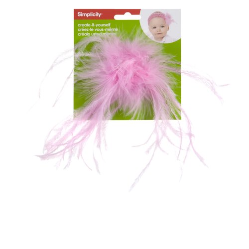 Create-It-Yourself Feather Poof, Light Pink