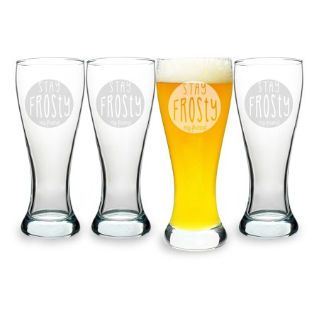Cathys Concepts Stay Frosty My Friend Pilsners - Set of 4