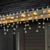 Celebrations 100 Led Light Icicle-Style Light String Warm White Set 5-1/2'