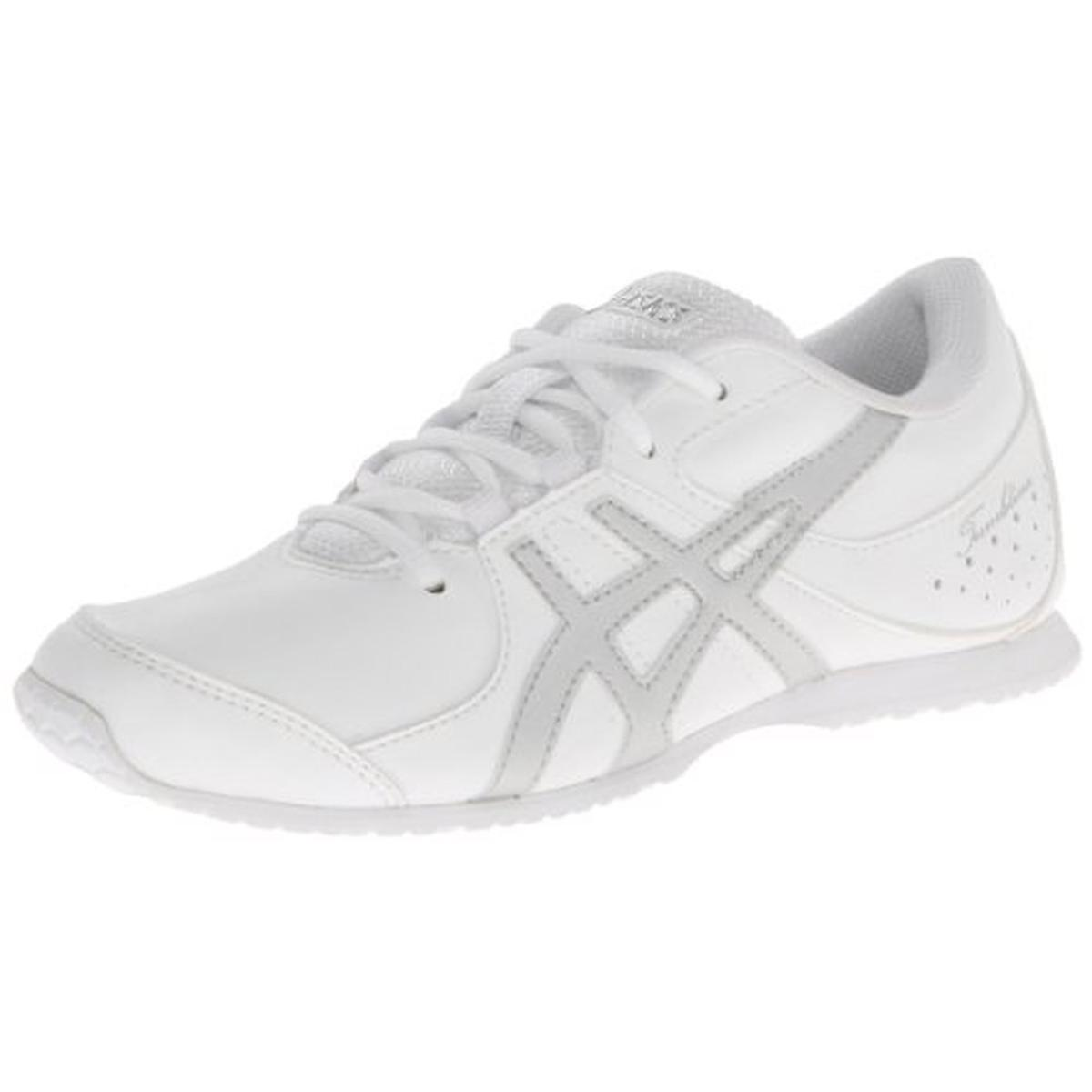 Asics Girls Tumblina Contrast Trim Faux Leather Casual Shoes