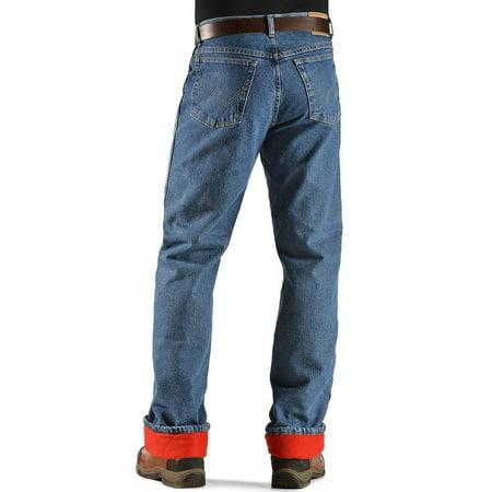 wrangler rugged wear men's woodland thermal jean ,stonewashed - Wrangler Thermal