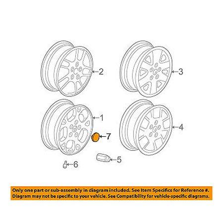 jeep chrysler oem 2001 grand cherokee wheels-center cap 5fa51pakac -  walmart com