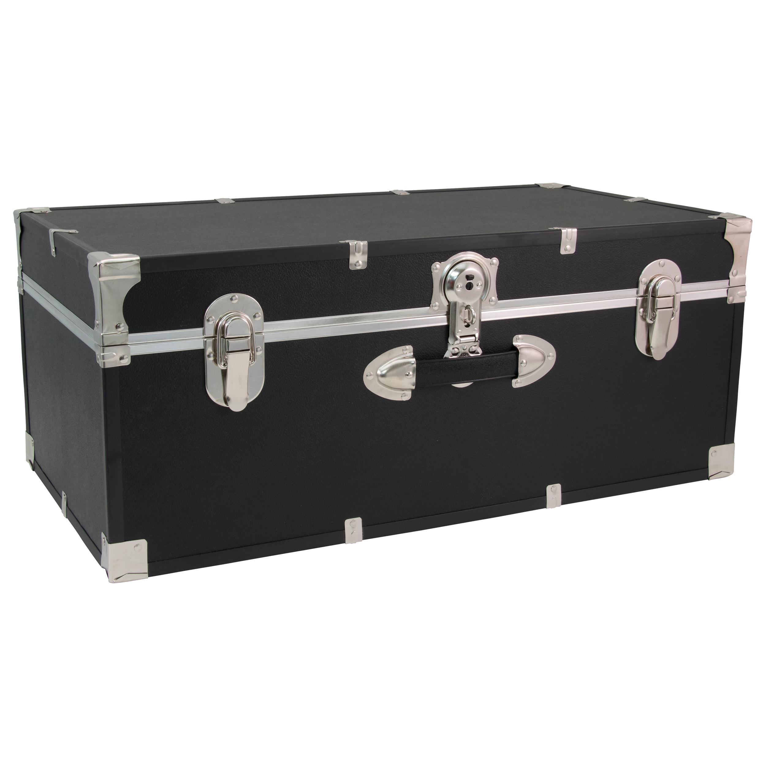 Footlocker Titanium Storage W// Lid Case of 2 Durable Home Bedroom Organizer