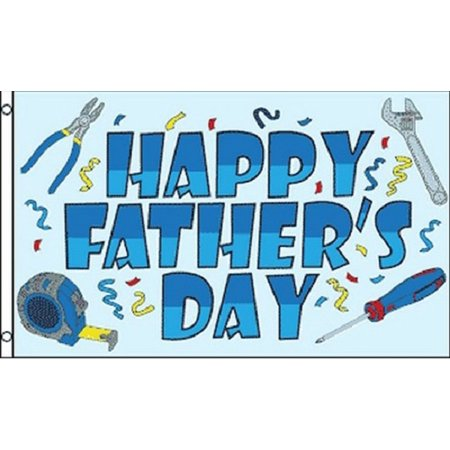 Happy Fathers Day Flag Party Banner Sign for Dad Large 3x5 Foot Indoor (Father's Day Banner)