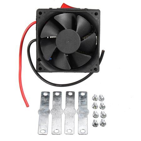Adjustable 12v 300w 80℃ Dual Switchs Auto Car Mute Heating Fan Heater Windscreen Defroster Demister Color:black - image 11 of 12